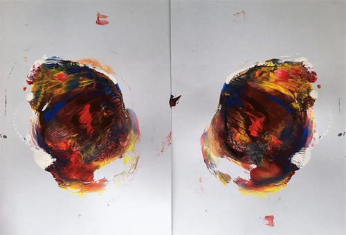 2 x paint on paper 3a