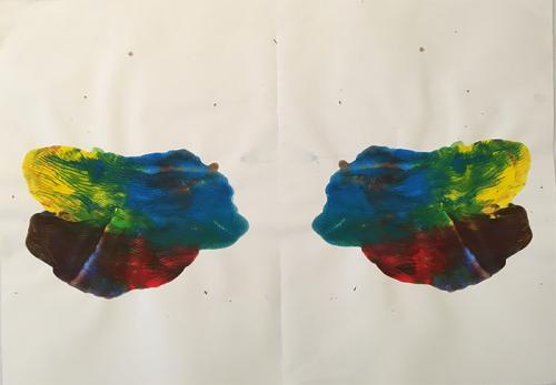 water-based-paint on A1 paper 4