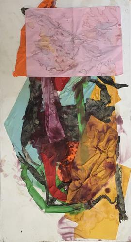 collage with coloured paper, 2009
