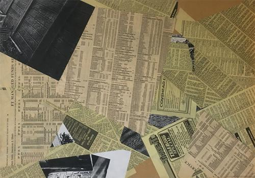 collage with newsprint and photocopies on MDF - 011