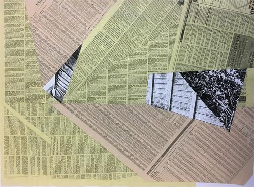 collage with newsprint and photocopies - 013